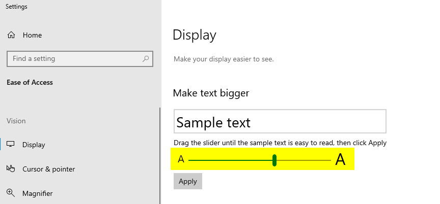 How to Resize Text in Windows 10
